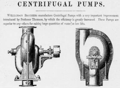 WILLIAMSON BROTHERS START MAKING PUMPS