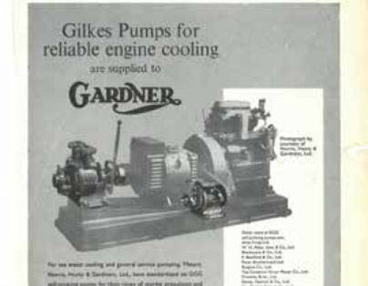 GILKES PUMPS SUPPLIED TO GARDNER DIESELS